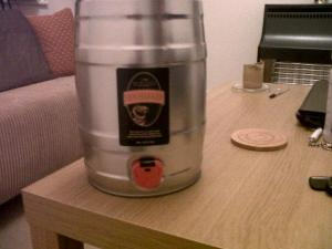 My well-earned keg from the world's best coach!