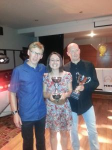 Receiving my trophies from Paul Shackleton and Mark Smith