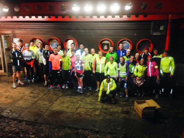 Fantastic turn-out for the first club run of the year! (Photo credit: Dave Potter)