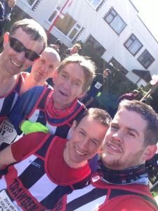 Start line selfie from some of the humbugs....I was still in the portaloo at this point! Photo credit: Dave Potter