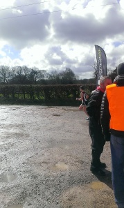 I made sure I emerged first from the other side of the marshals (credit: Martin Pearson)
