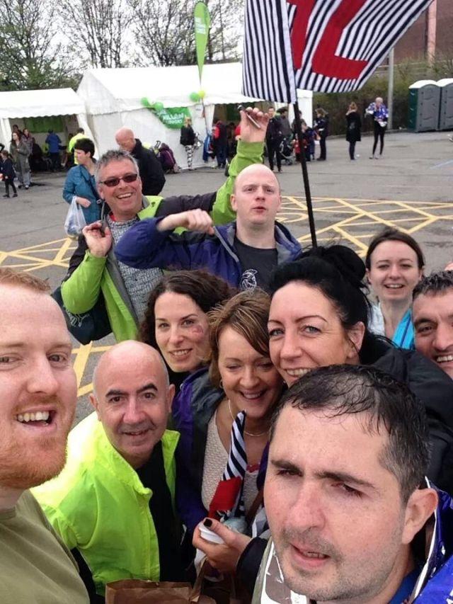 Post-marathon selfie!  (Photo credit: Dan Frazer)