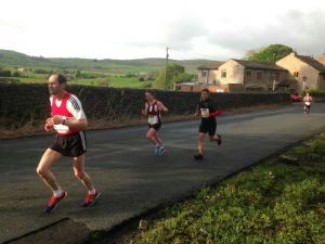 Just finishing the first lap (photo credit: Paul Brown)