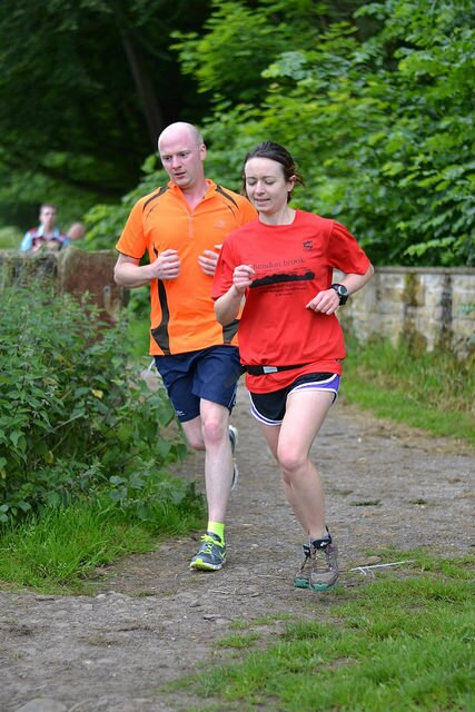 Martin achieving another PB! (Photo credit: Burnley parkrun flickr group)