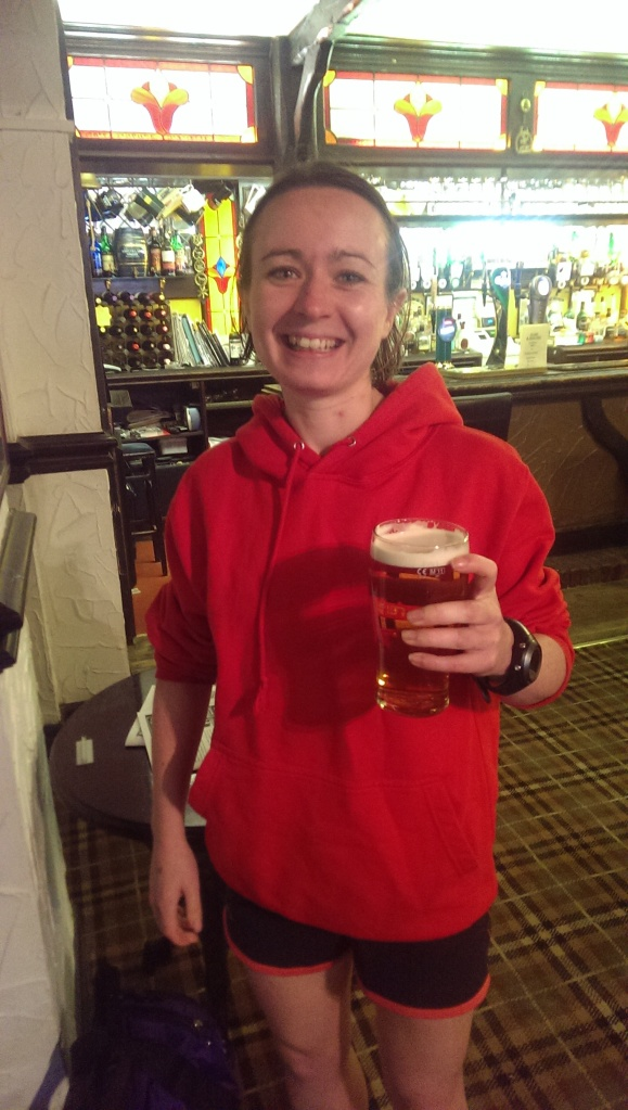 Celebratory pint of ale! (photo credit: Martin Pearson)